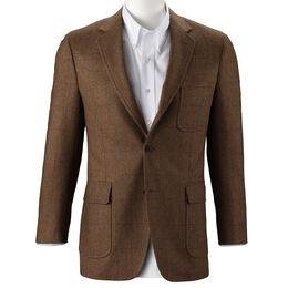 Scottish Herringbone Sport Coat, Tan Herringbone, blockout