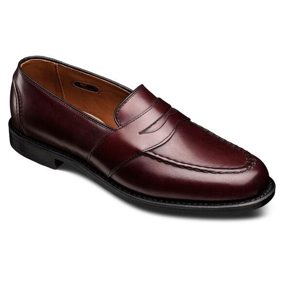 Randolph Penny Loafers, 4839 Burgundy Burnished Calf, blockout