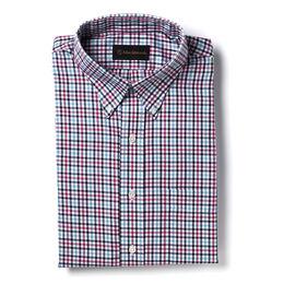 Tattersall Sport Shirt, Mallard Tattersall, blockout