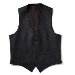 Pinstripe Vest, Grey Pinstripe, blockout
