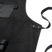 Apron - Black Canvas & Leather XL