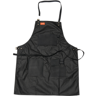 Apron - Black Waxed Canvas & Leather