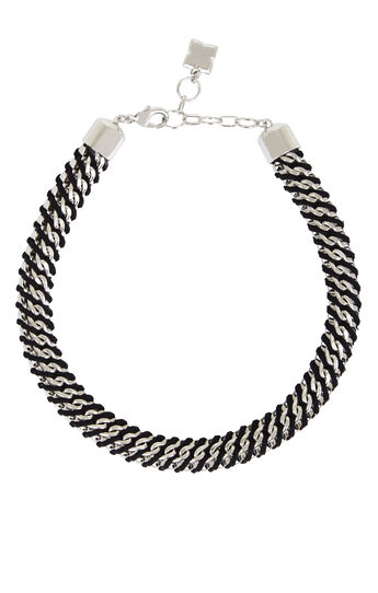 Woven Box-Chain Necklace
