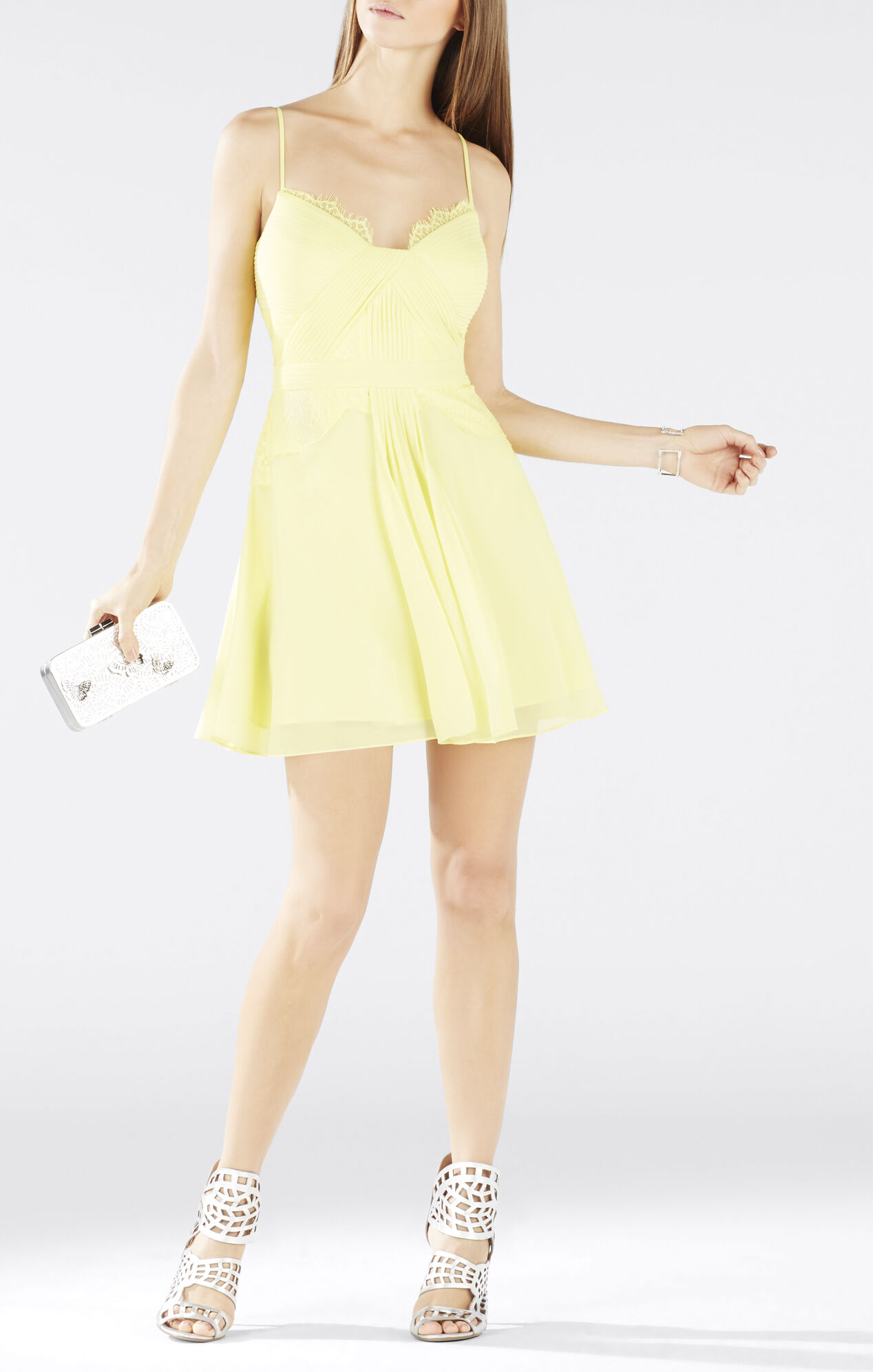 Katalina Lace-Blocked Bodice Dress