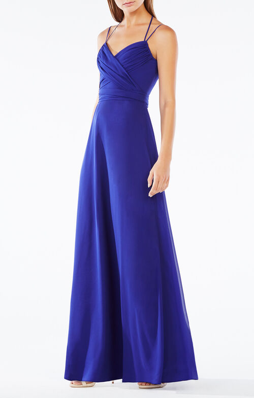 Rosabelle Open-Back Silk Gown