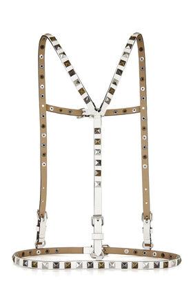 Multifinish Studded Suspender-Harness Waist Belt