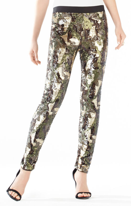 Dena Camo Sequined Leggings