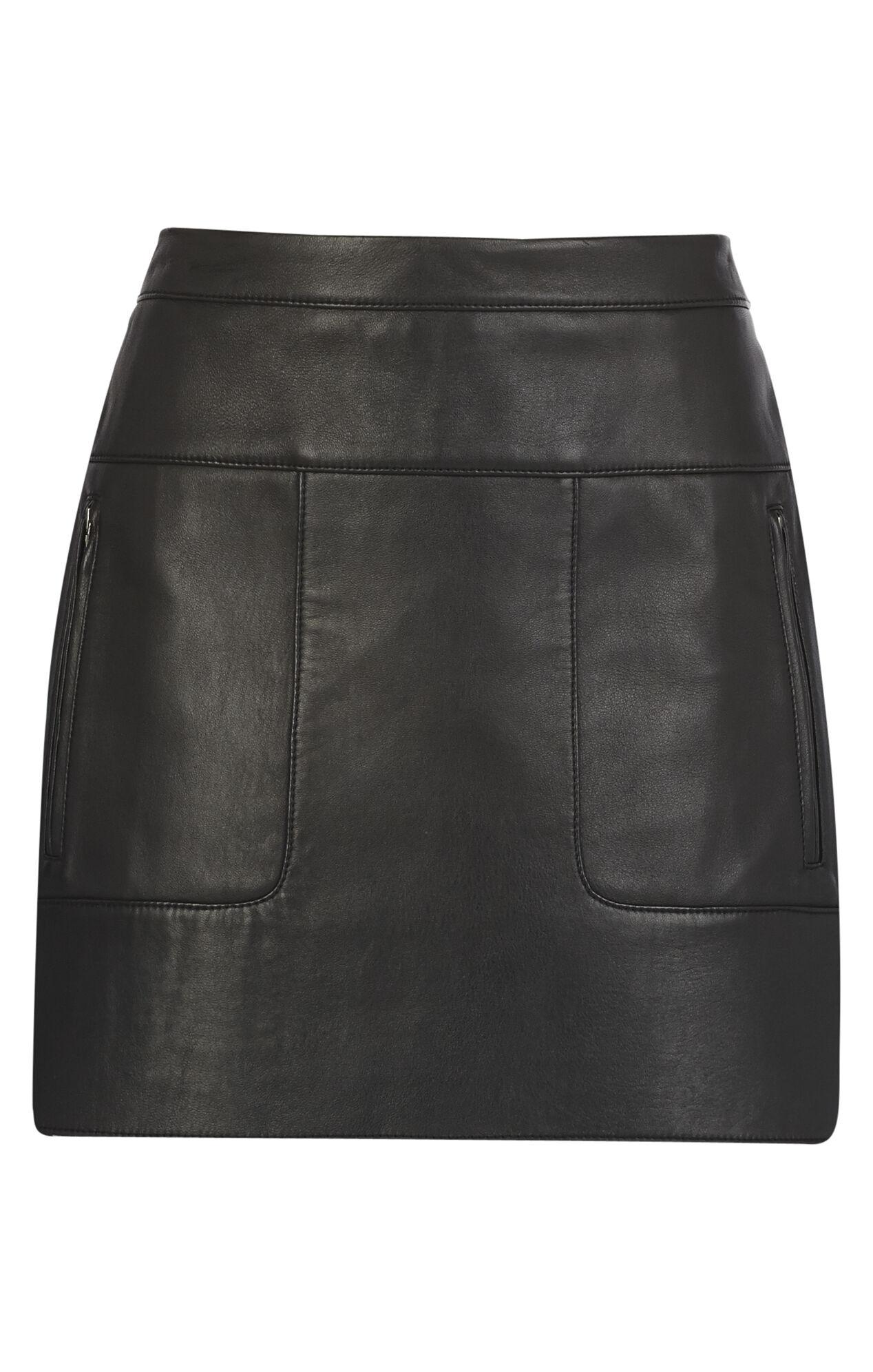 Desyree Patch Pocket Leather Miniskirt