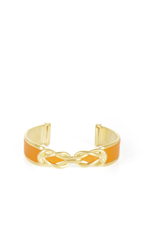 Faux-Leather Knot Cuff