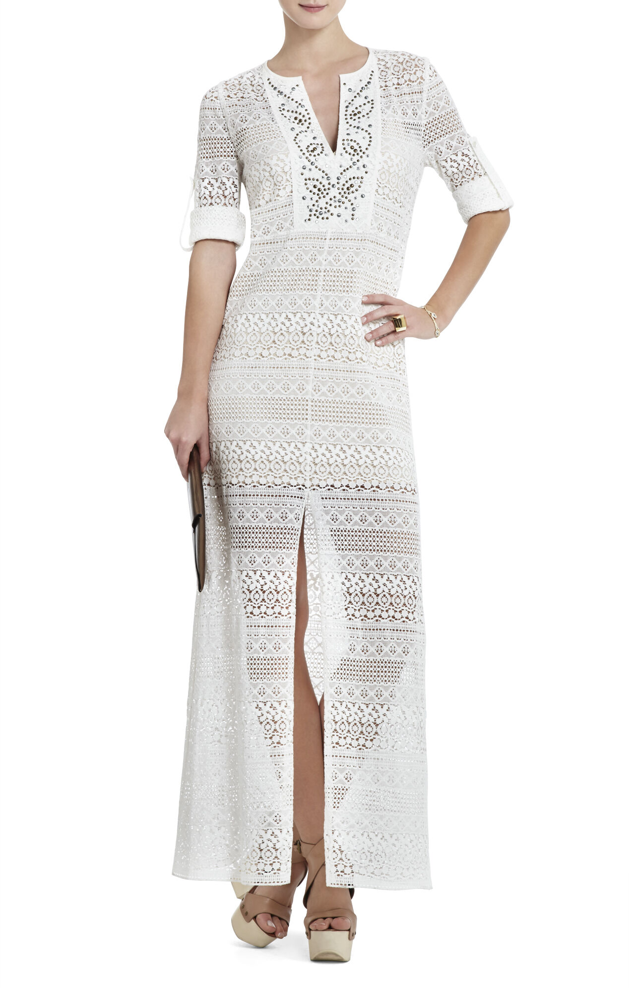 Olivia Lace Caftan Dress