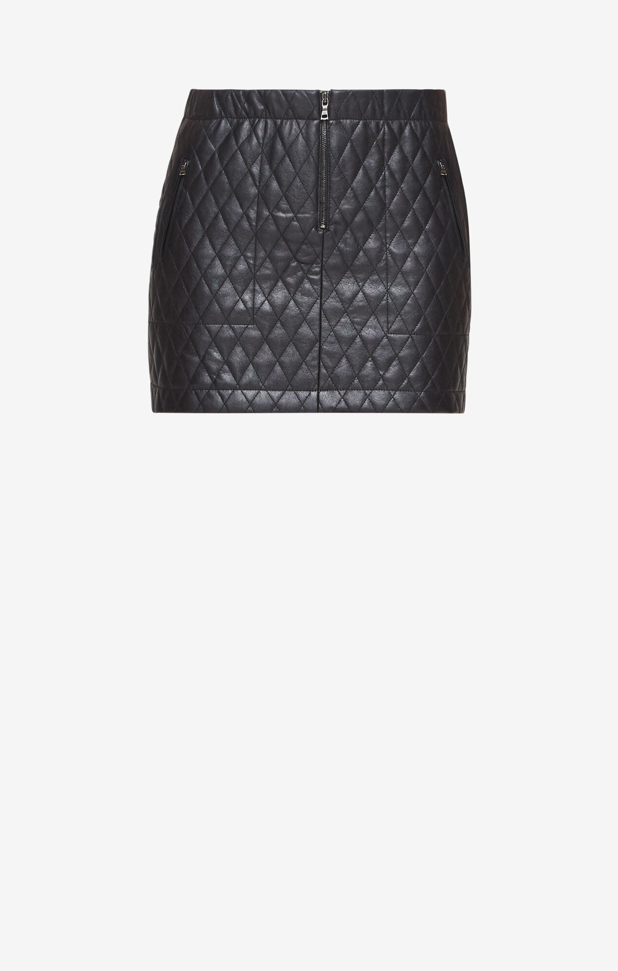 Dotty Quilted Faux-Leather Skirt