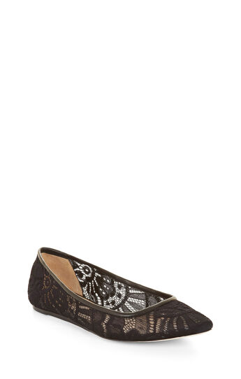 Gale Pointed-Toe Lace Flat