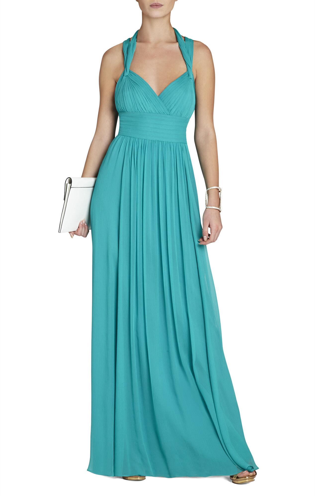 Kadence Silk Halter Gown