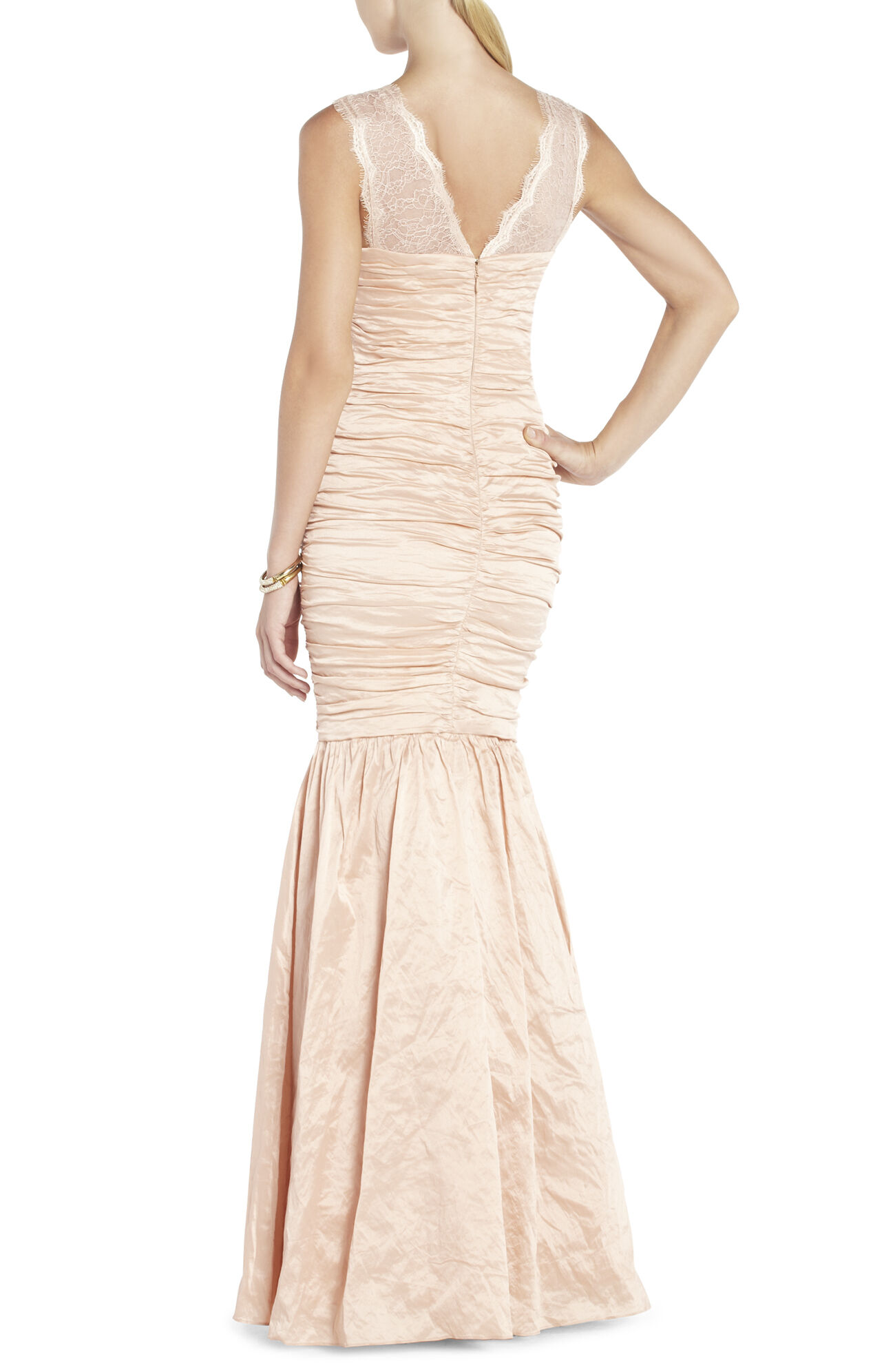 Geo Asymmetrical Draped Evening Gown