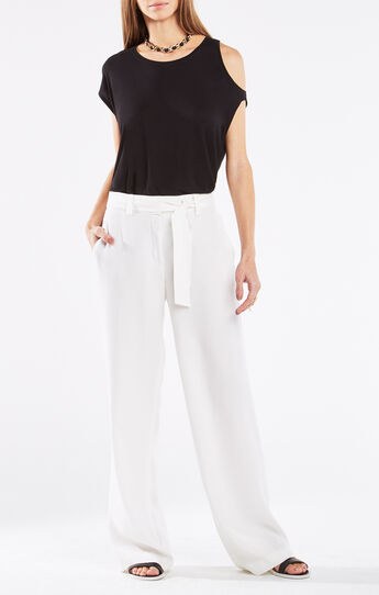 Danta Cold-Shoulder Asymmetrical Top