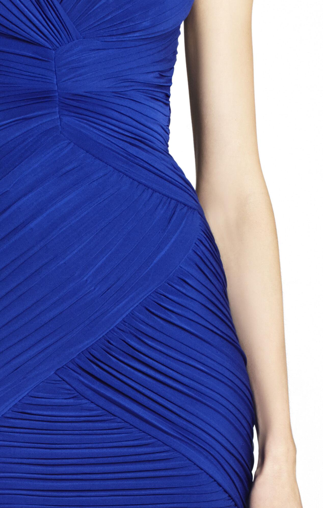 Edesa Shirred V-Neck Cocktail Dress