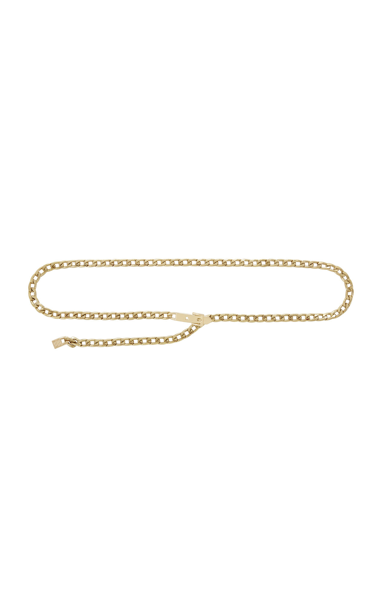 Faux-Buckle Chain Waist Belt