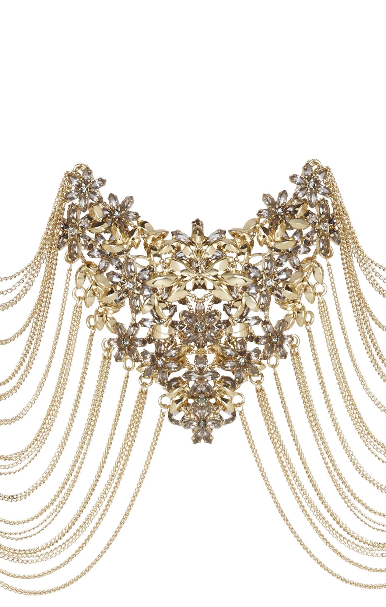 Floral-Epaulette Chain Bodypiece