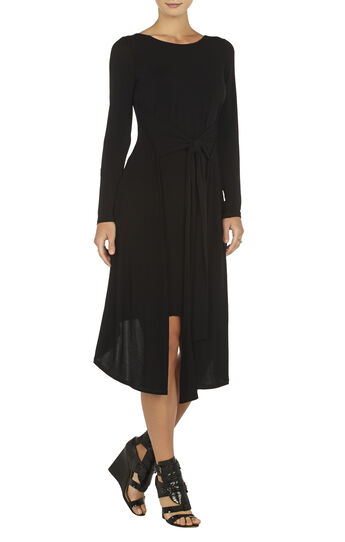 Jennifer Long-Sleeve V-Back Dress