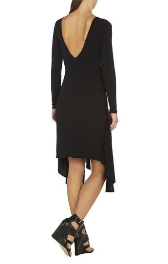 Jennifer Long-Sleeve V-Back Dress