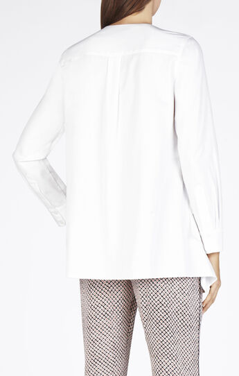 Terri Long-Sleeve Zip-Front Shirt