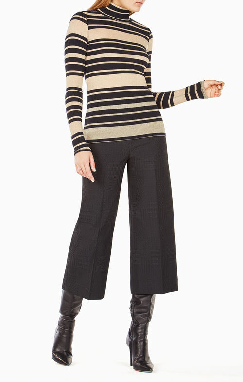 Brinne Striped Turtleneck Top