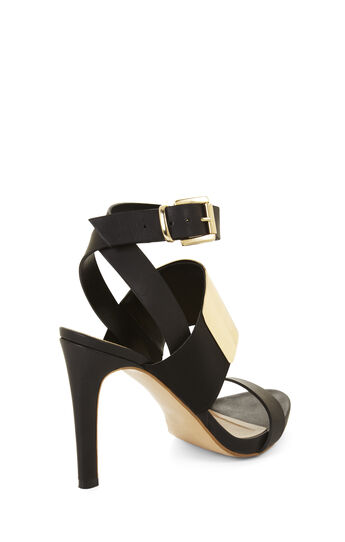 High-Heel Open-Toe Strappy Sandal