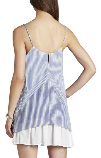 Cora Blocked Asymmetrical-Hem Tank