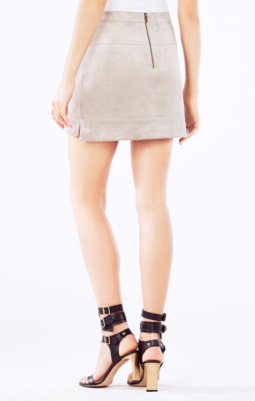 Desyree Faux-Suede Miniskirt