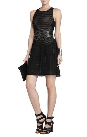 Cassandra Sleeveless A-Line Eyelet Dress