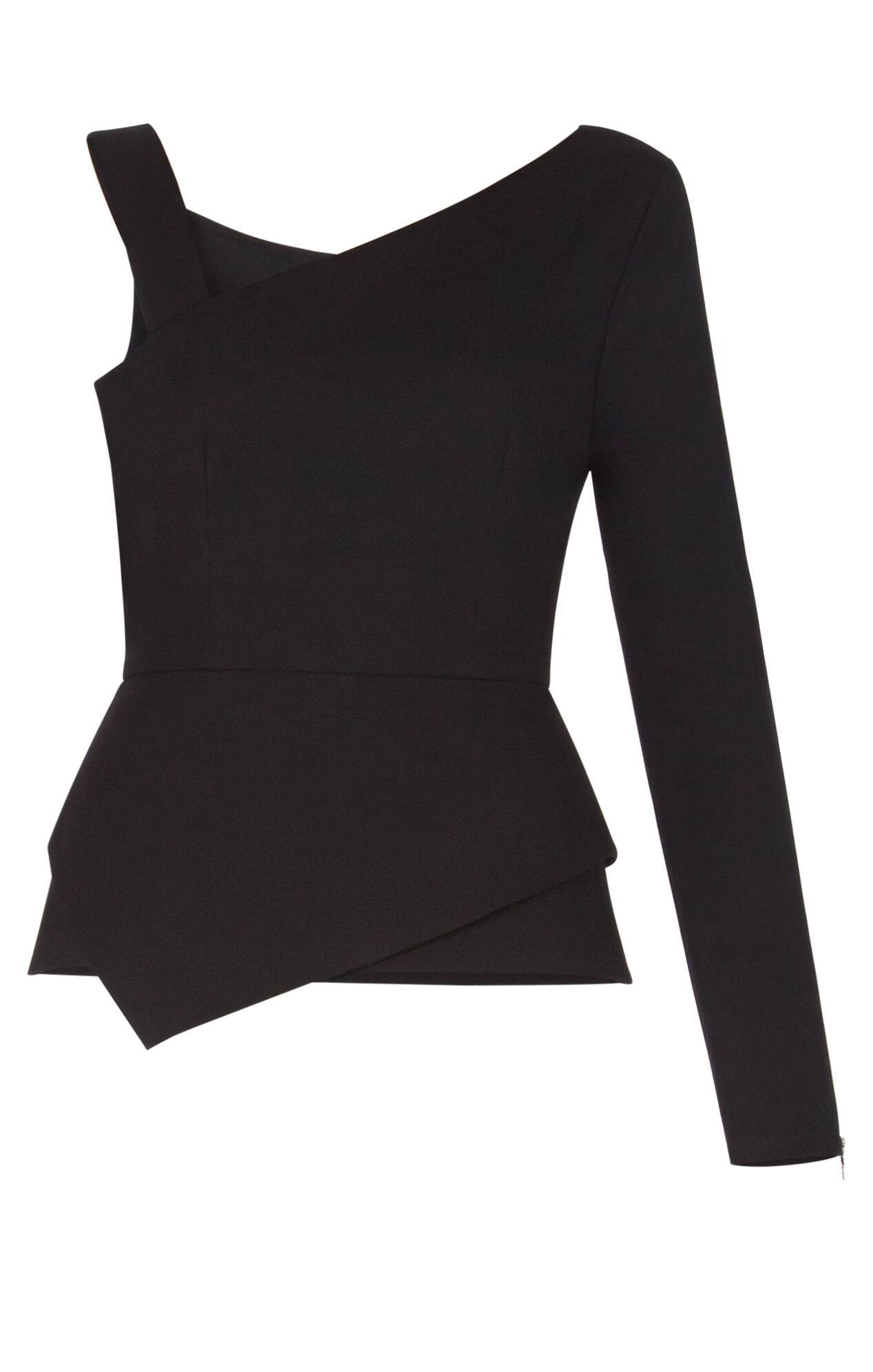 Falisha Single-Sleeve Peplum Top