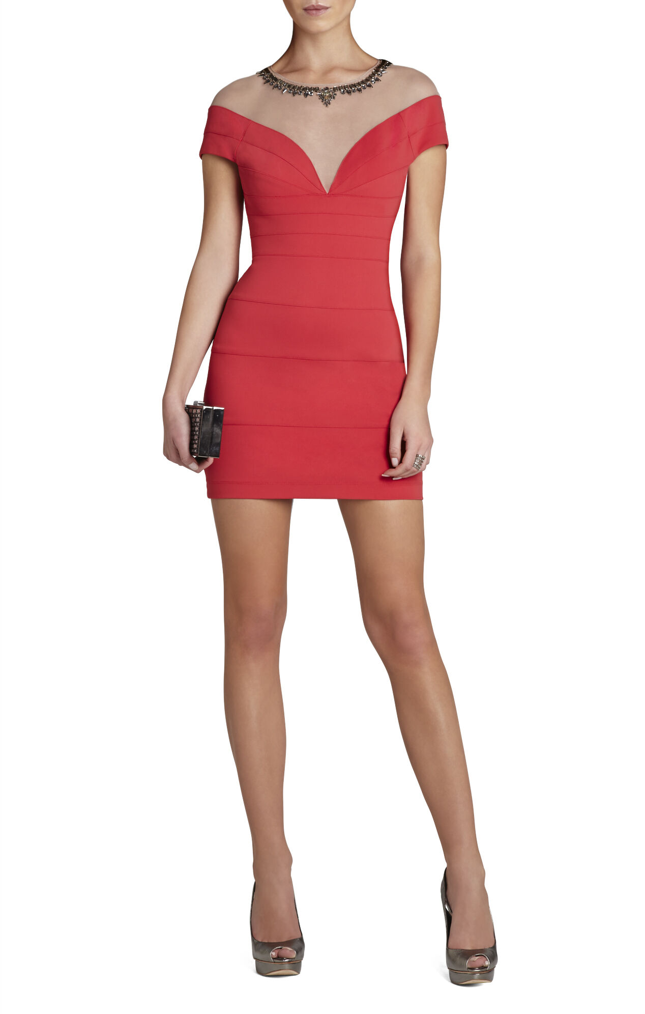 Piper Tulle-Yoke Short Dress