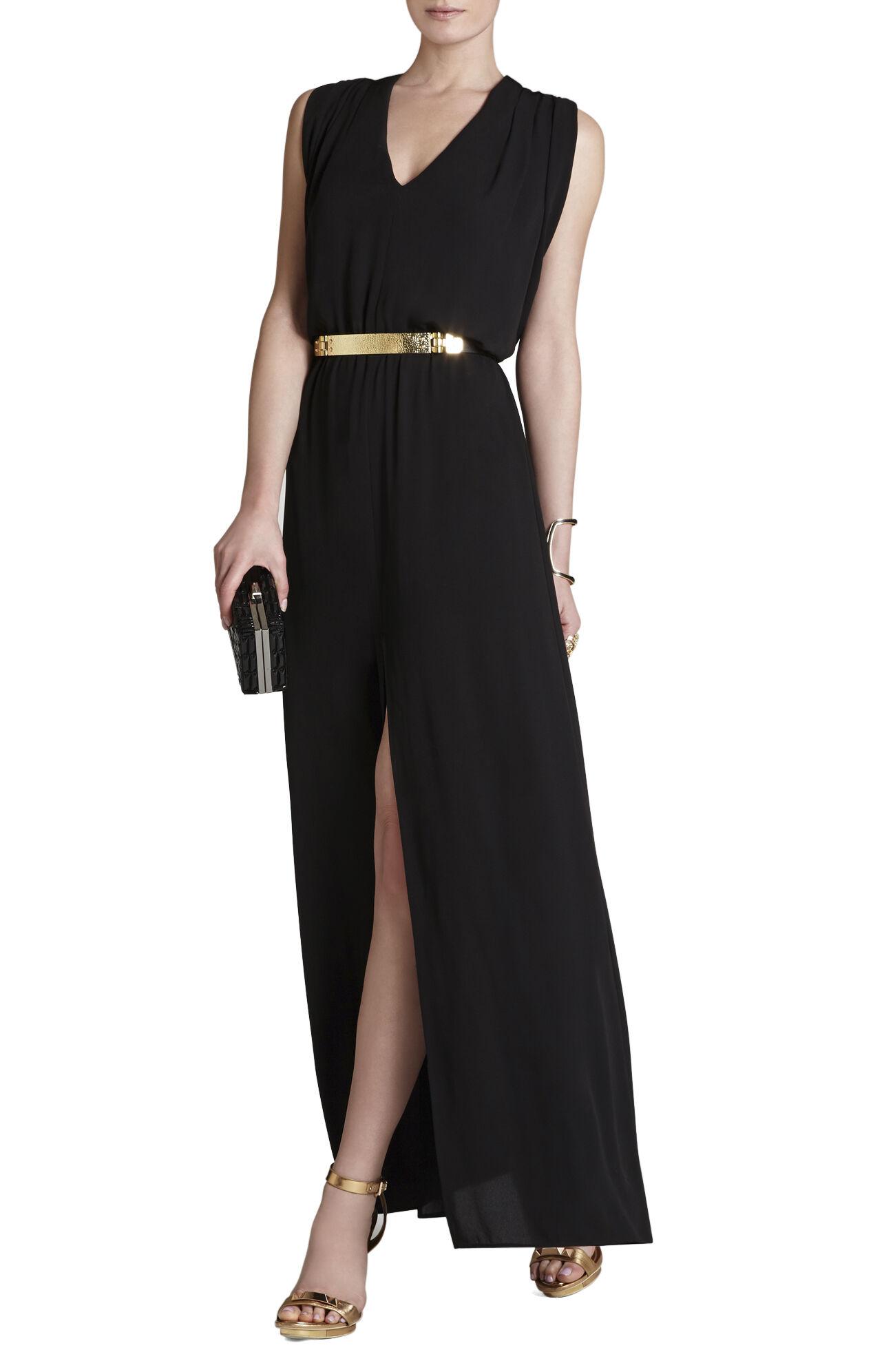 Raymee Sleeveless Draped Waist-Tie Maxi Dress