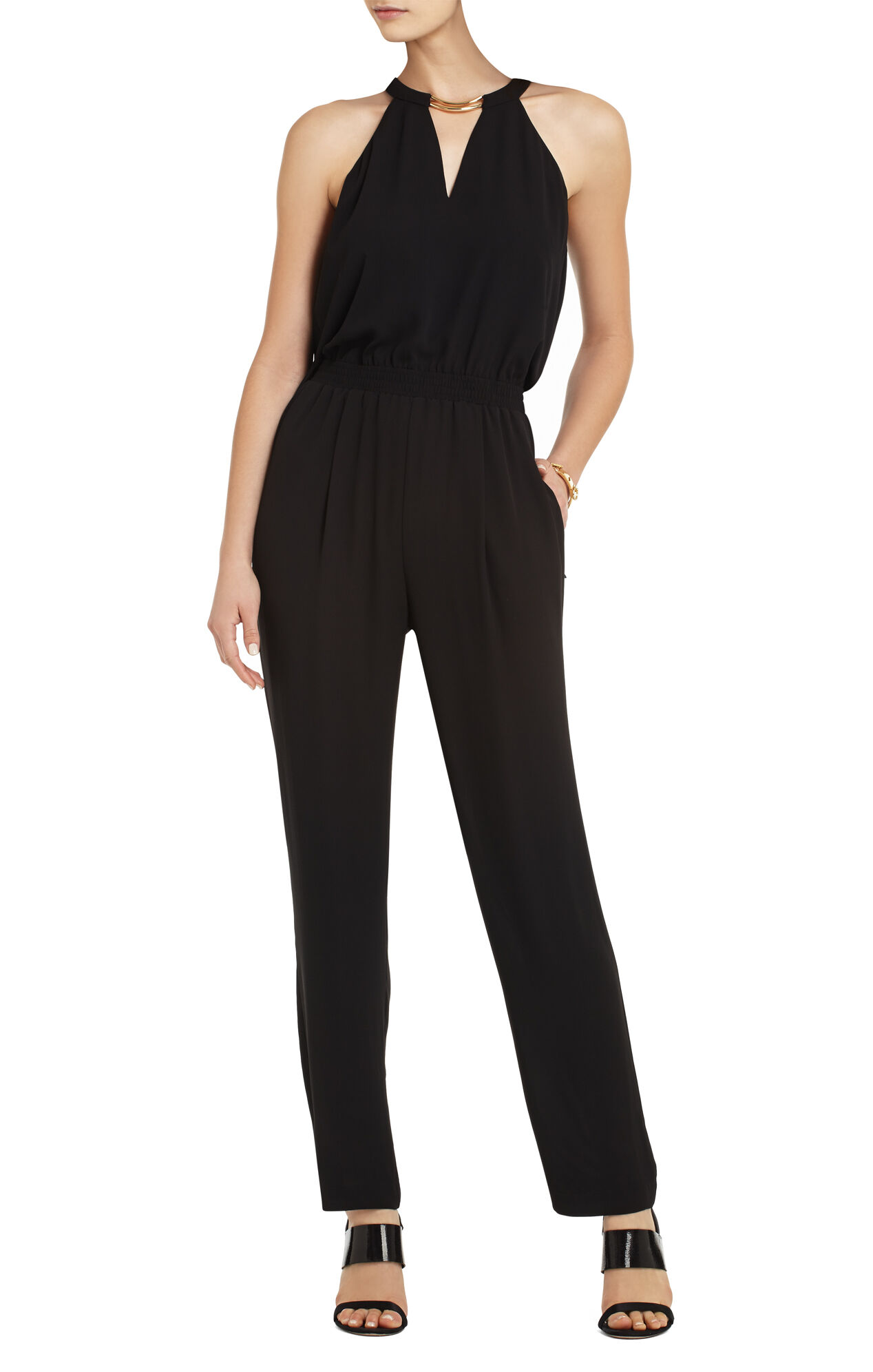 Zoelle Halter-Top Jumpsuit