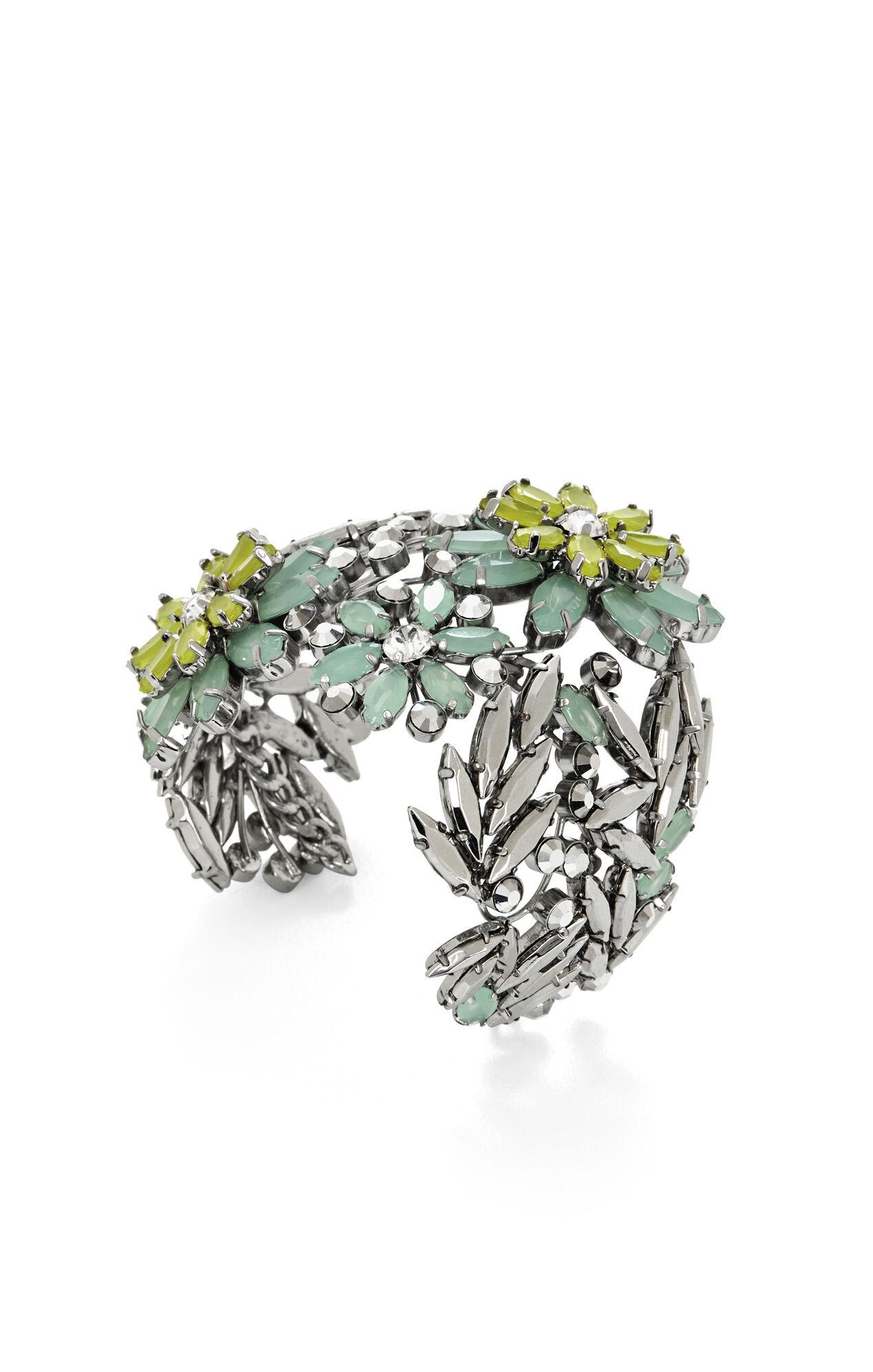Floral-Stone Cuff
