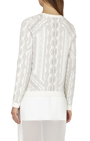 Robbin Cable-Knit Inspired Jacquard Pullover