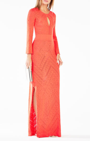 Loryn Cutout Pointelle Maxi Dress