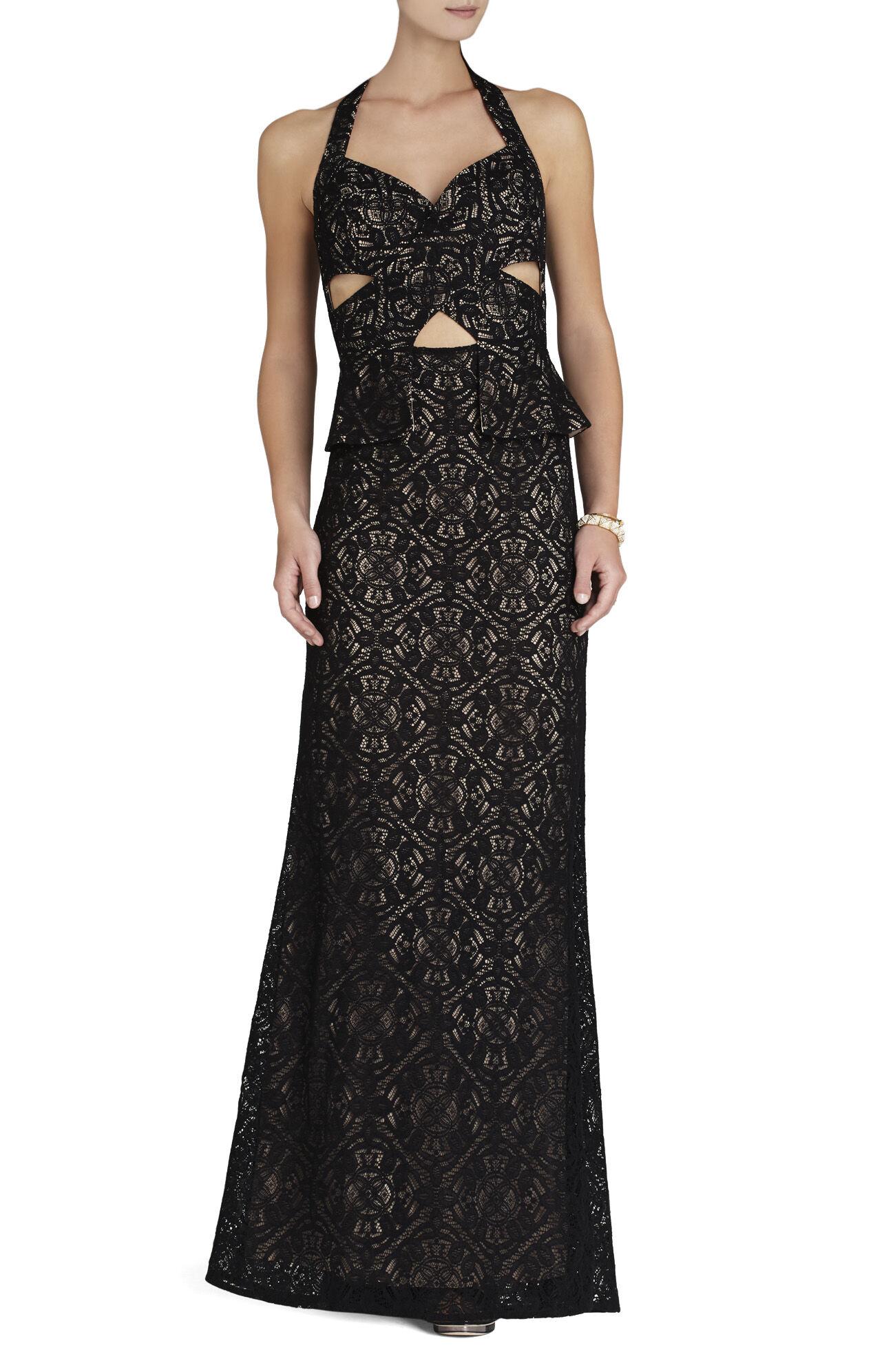 Daga Cutout Halter Gown