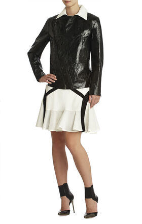 Runway Leone Foiled Leather Jacket