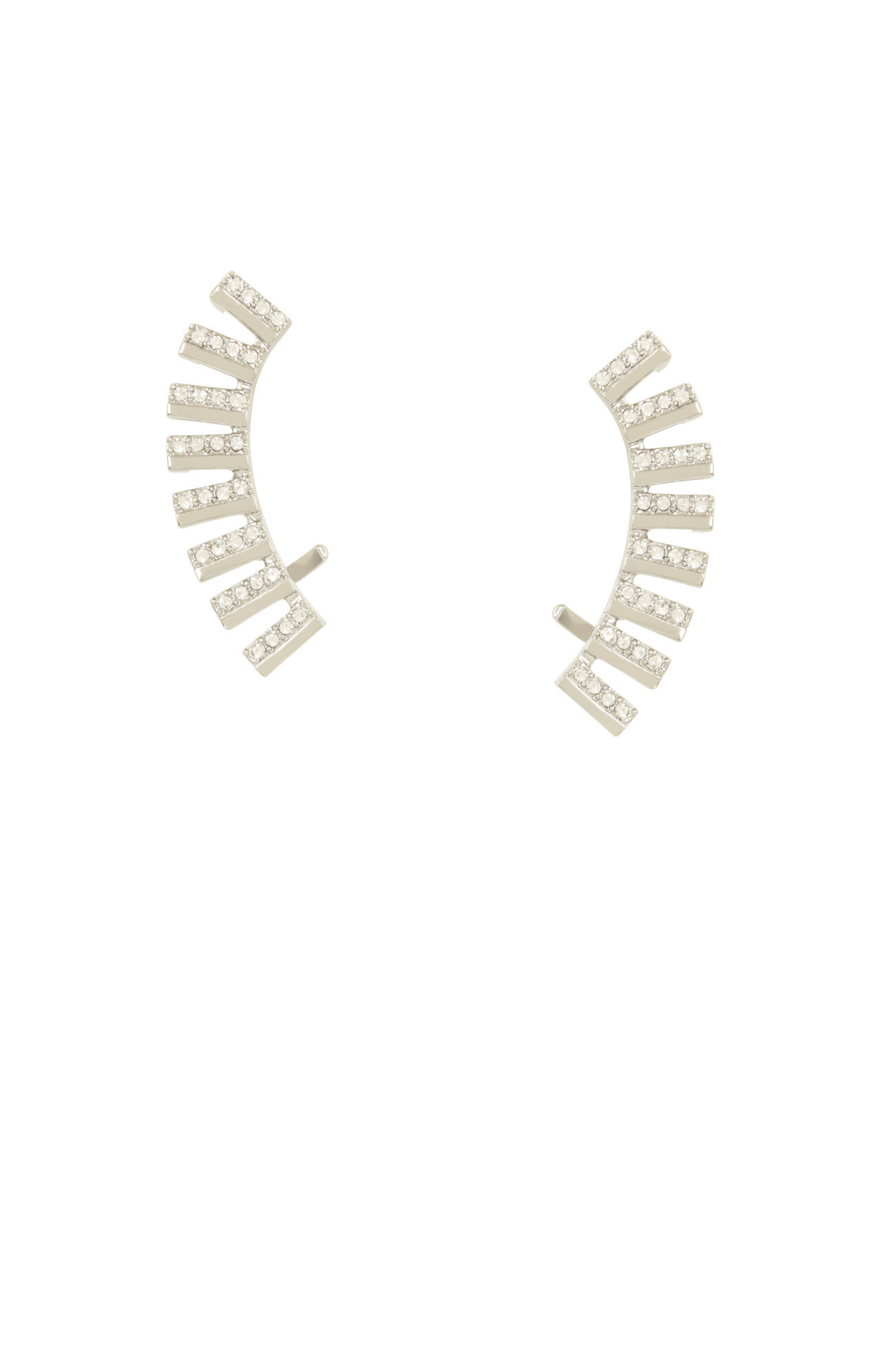 Pave Track Ear Cuffs