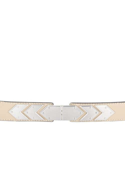 Houndstooth Plated Waist Belt