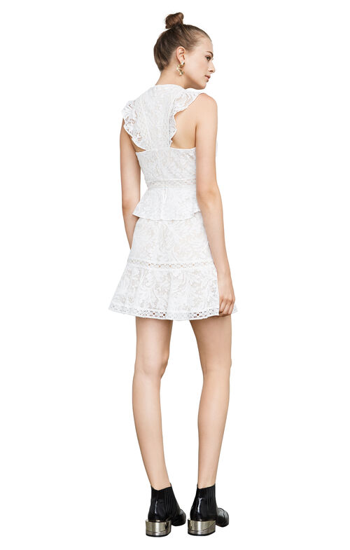 Careen Geometric Lace Dress