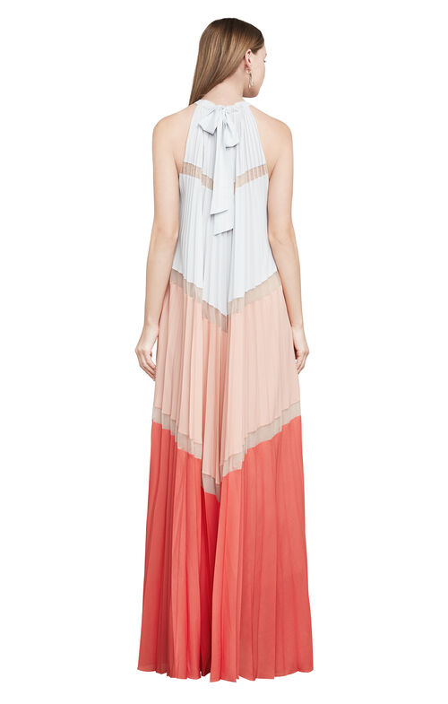 Alyson Sleeveless Color-Blocked Maxi Dress