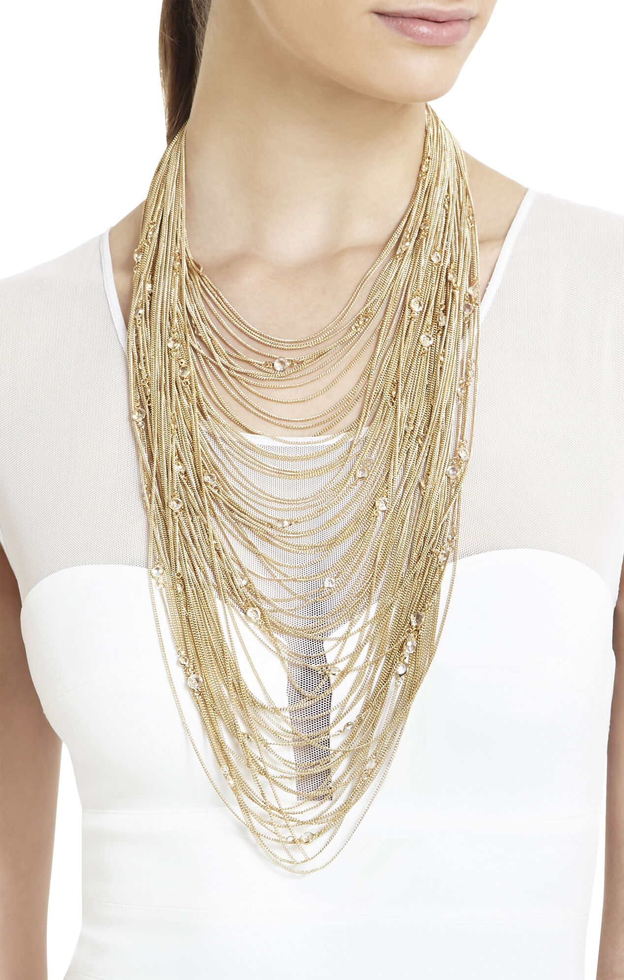 Delicate Draped-Chain Necklace