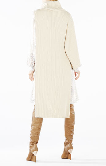 Amiera Single-Sleeve Turtleneck Sweater