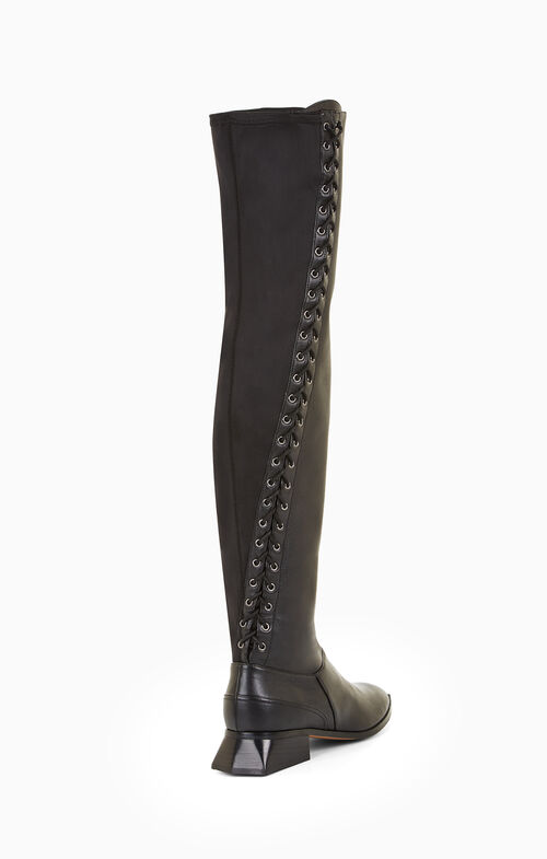 Larya Lace-Up Leather Boot