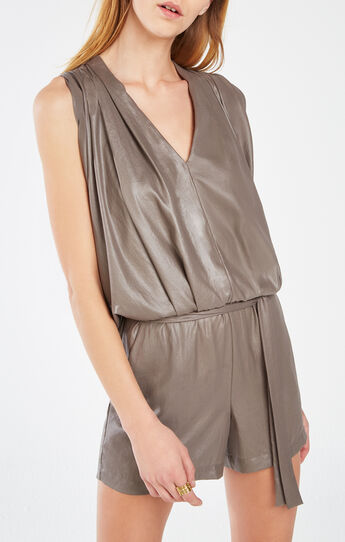 River Pleated Romper