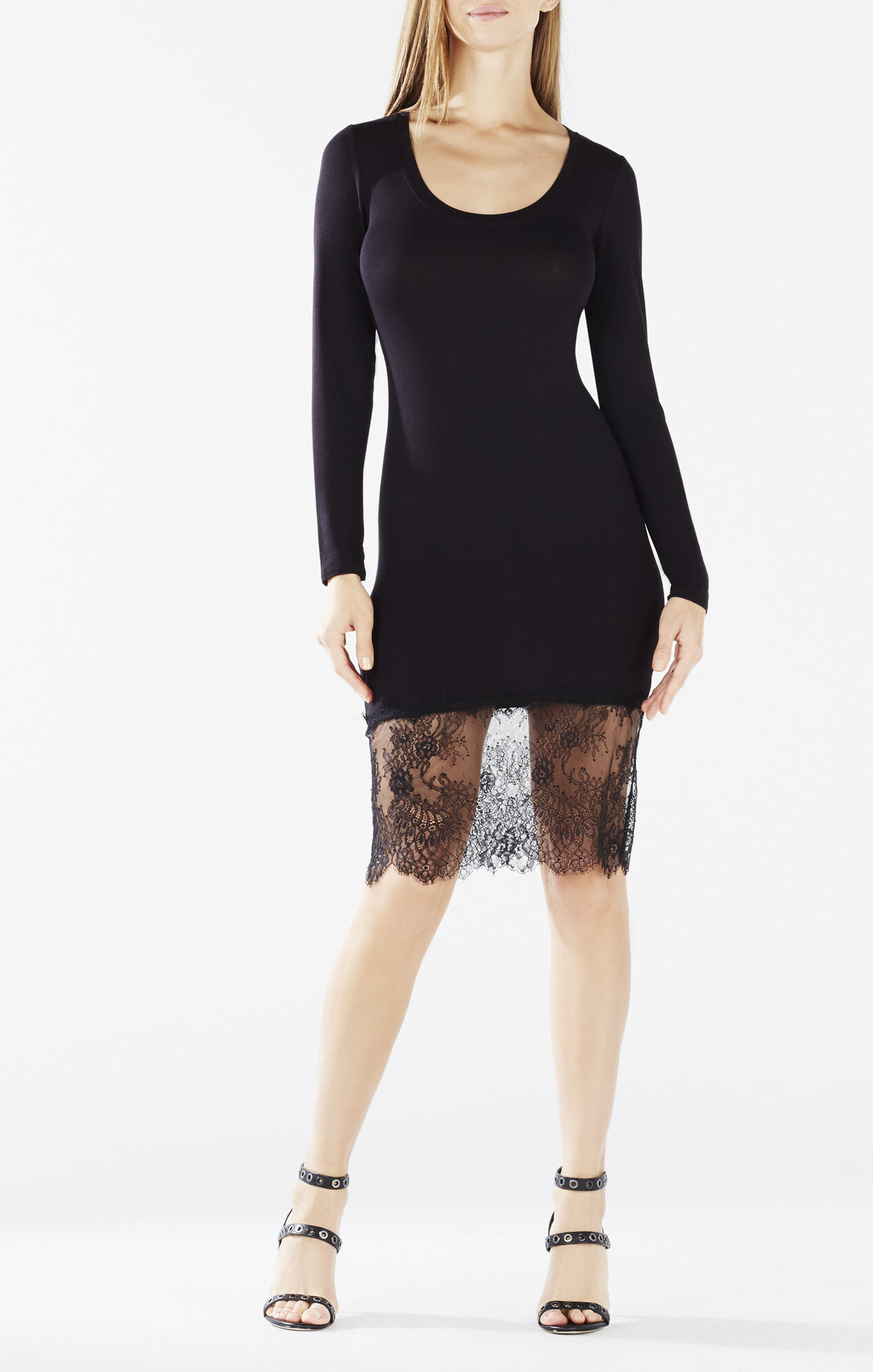 Livi Lace-Hem Dress