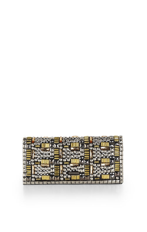 Carina Studded Fold-Over Clutch