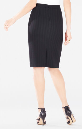 Tawnee Striped Mini Pencil Skirt